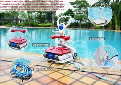 HJ-2028 Automatic Swimming Pool Cleaner 02